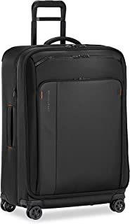 Briggs & Riley ZDX-Expandable Luggage with 4 Spinner Wheels, Black, Checked-Large 29-Inch