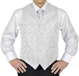 4Pc Mens Paisley Tuxedo Dress Suit | Vest | Hanky | Tie | Bow-Tie