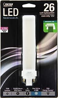 Feit Electric PL26E/H/841/LED PL Horizontal Recessed,1100 lm, 26W Equivalent, GX24Q Base LED Light Bulb, 6.25