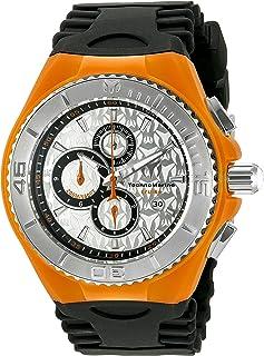 TechnoMarineメンズtm-115194クルーズクラゲアナログ表示クォーツブラック腕時計