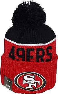 New Era NFL15 On-Field Sport Knit San Francisco 49ers Black Red Pom Beanie