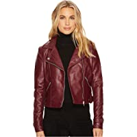 Romeo & Juliet Couture Amour Pu Biker Jacket (Burgundy/Black)