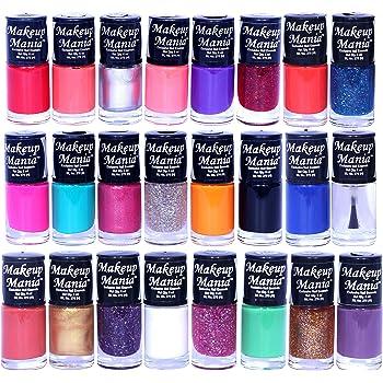 Makeup Mania Nail Polish Set of 24 Pcs, Nail Paint of 6ml each x 24 Pcs, MultiColor Set 86-87 (Combo of 24 Pcs)