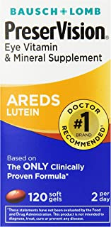 PreserVision AREDS Lutein Eye Vitamin & Mineral Supplement, Beta-Carotene Free, Soft Gels, 120 ct