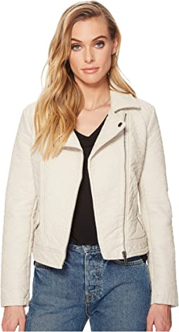Menton Rippled Vegan Leather Jacket