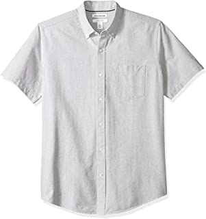 Amazon Essentials Men's Regular-Fit Short-Sleeve Solid Pocket Oxford Shirt