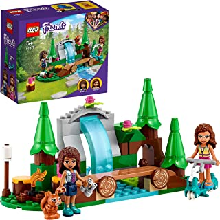 LEGO 41677 Friends Forest Waterfall Camping Adventure Set, with Andrea and Olivia Mini Dolls, Toy for Kids 5+ Years Old, N...