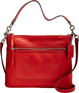 Poppy Pebbled Leather Perri Hippie Convertible Bag 22421M Love Red