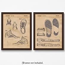 Original Nike Air Jordan 5 Shoes Patent Poster Prints, Set of 2 (11x14) Unframed Photos, Wall Art Decor Gifts Under 20 for Home, Office, Studio, Man Cave, Gym, Student, Teacher, Chicago & Sports Fan