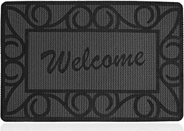FGSS Home Decor PVC Welcome-Door-Mat Anti-Skid 18x30 Inch (Welcome, 18x30)