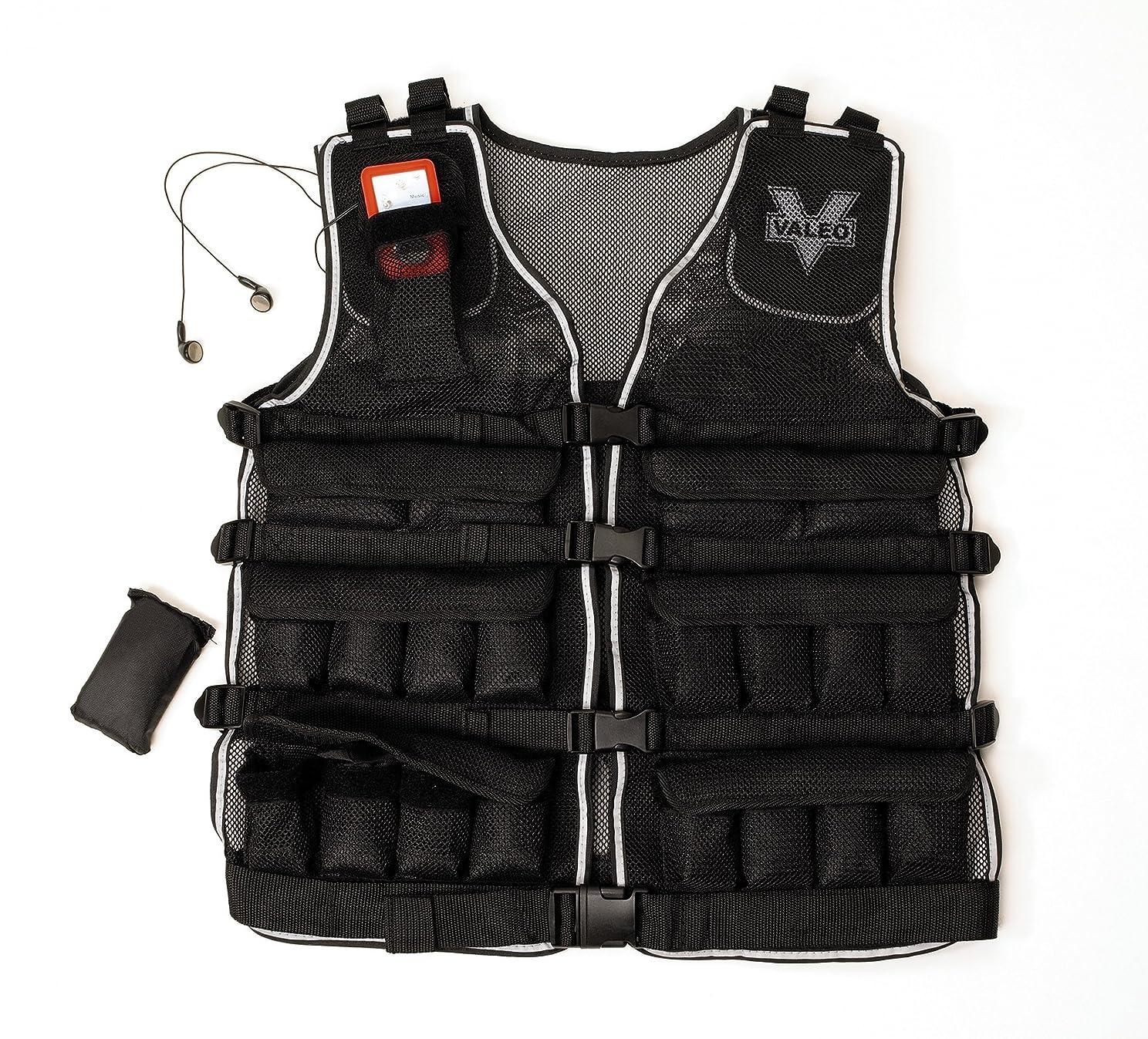 聴く背が高いびっくりするValeo 20lb Weighted Vest WV20 %