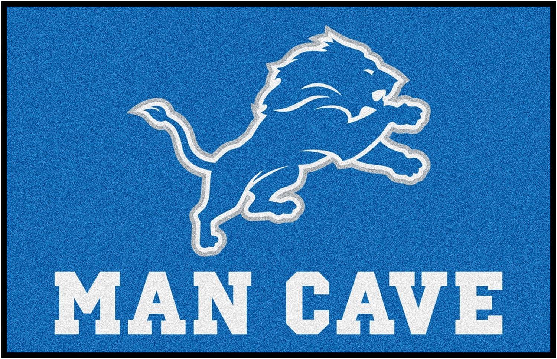 FANMATS Trust 14301 Max 72% OFF NFL Detroit Lions Nylon Universal Cave Man Starter