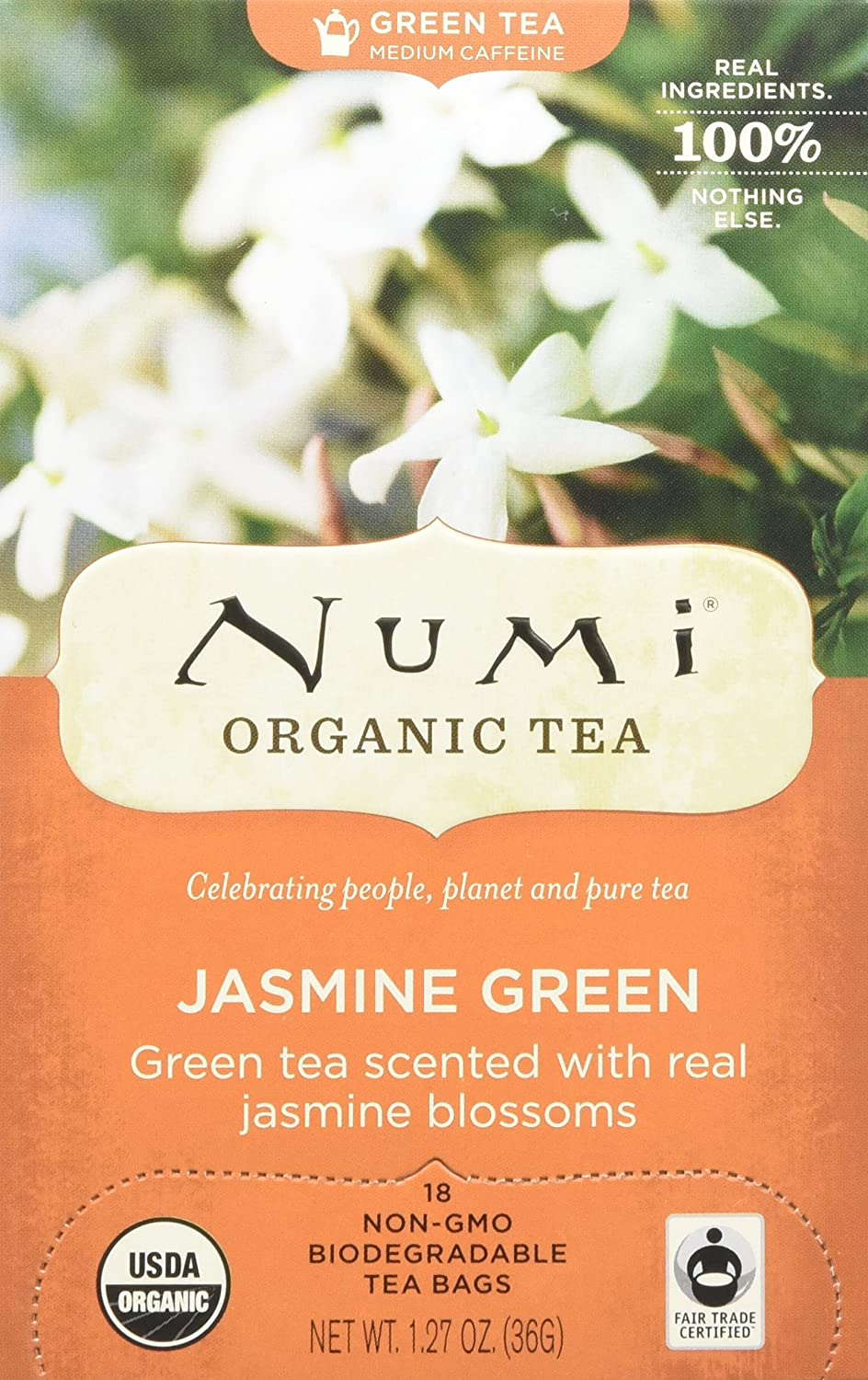 Numi Organic Tea Jasmine Gorgeous Green Box of 67% OFF of fixed price Count 18 Bags