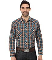 Roper - 0105 Brown & Blue Plaid