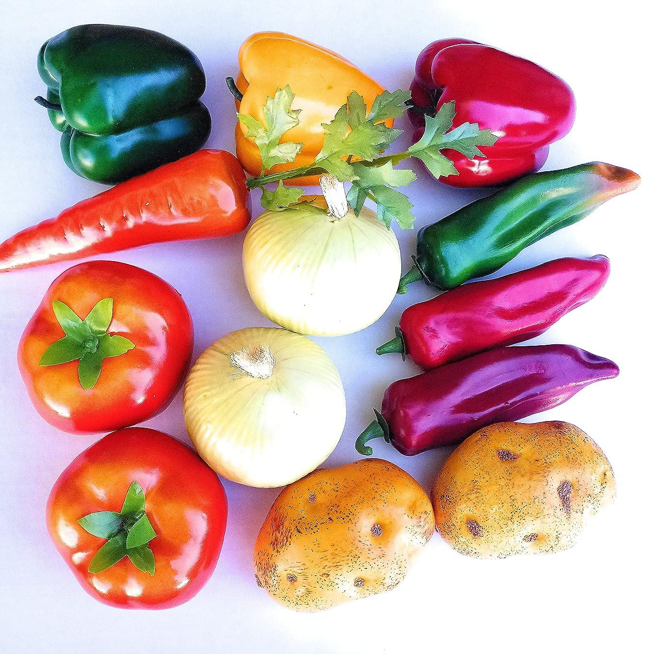 Mezly 12pcs Set Artificial Vegetables Silation Vegetables Decoration Kitchen Home Decor Realistic Fake Vegetables Decor Set Photo Props