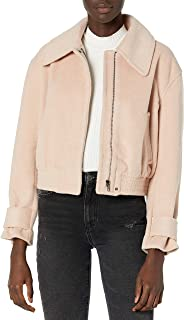 ASTR the label Women's Andrea Collared Long Sleeve Zip-Up Jacket, BLUSH