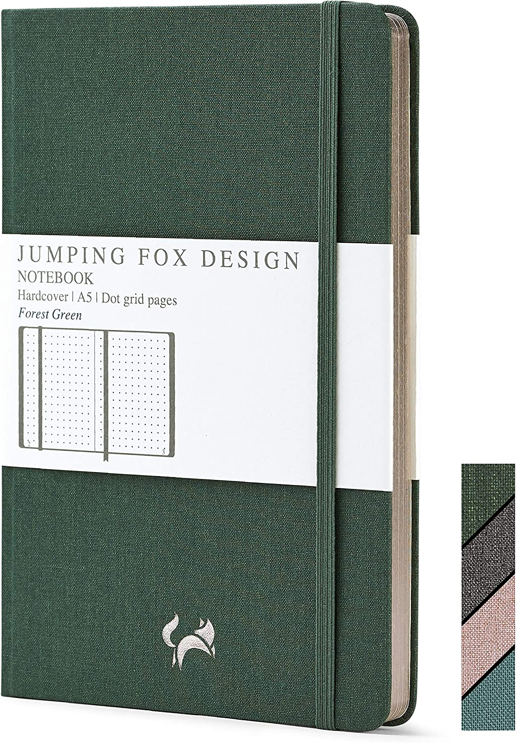 Jumping Sales results No. 1 Fox Design Linen Denver Mall Fabric Jour Hardcover Premium Dotted A5