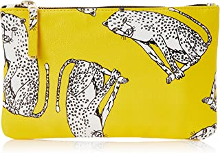 DAY FIVE STUDIOS Women's LEOPARD POUCH, Yellow, One Size