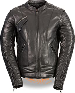Milwaukee Leather Women's Embossed Phoenix Jacket (Black, Large)