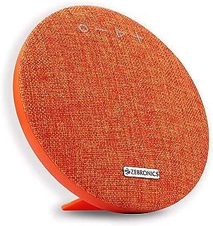 Zebronics Zeb-Maestro Portable BT Speaker with Dual Drives, mSD, USB, FM, AUX, Mic & Fabric Finish (Orange)