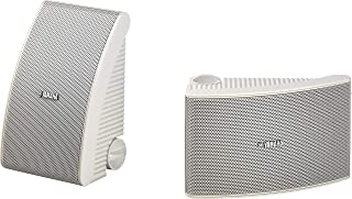 Yamaha Outdoor Speakers with 13cm Woofer Weatherproof and 2-Way Acoustic Suspension Design - NSAW392 (White)