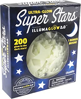 Ultra Glow in the Dark Stars; 200 Count w/ Bonus Moon