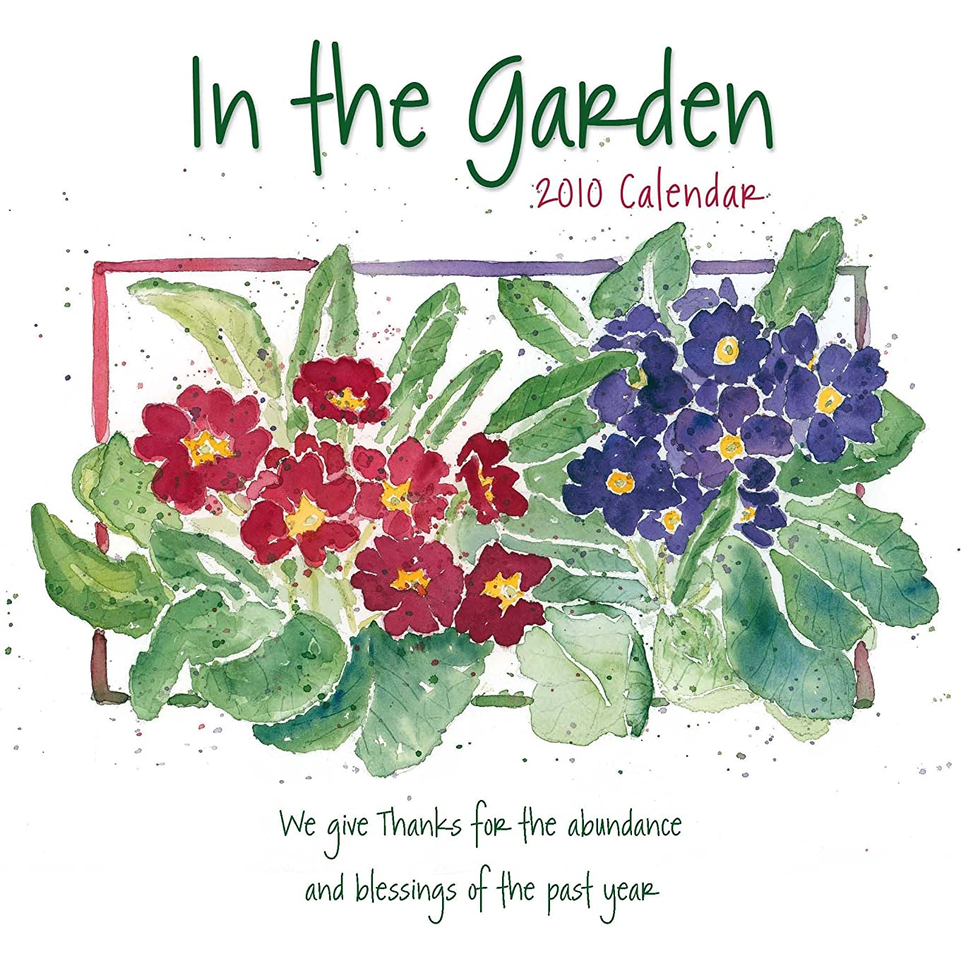 年金気取らないバッグIn the Garden 2010 Calendar