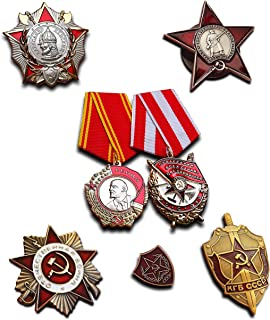Trikoty Highest Soviet Military Medals Selection 7X Medal Badge Elite Award Collection Antique Reproduction USSR Gift