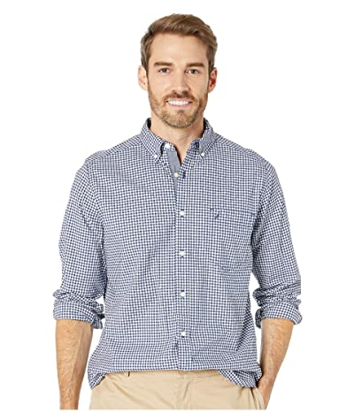 Nautica Classic Fit Stretch Shirt (Navy Gingham) Men