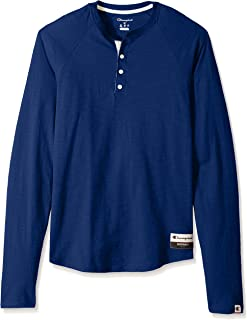 Champion Men's Authentic Originals Long Sleeve Henley