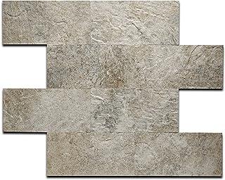 ARTESANIA MURO Peel and Stick Stone Wall Tiles Bricks, DIY Kitchen Bathroom Backsplash, Fire