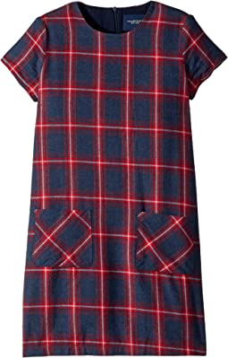 Plaid Shift Dress (Toddler/Little Kids/Big Kids)