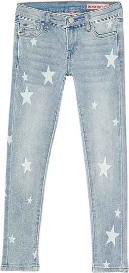 Star Printed Five-Pocket Jeans in Blue (Big Kids)