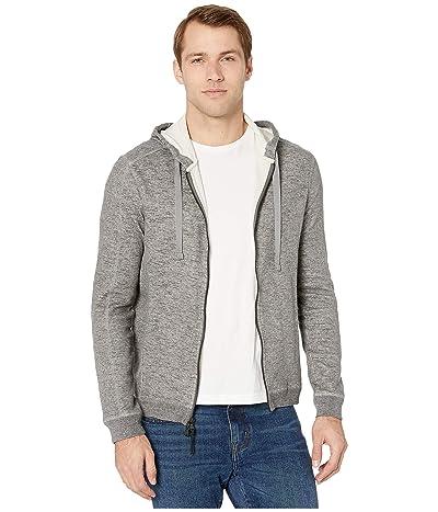 John Varvatos Star U.S.A. Pelham Long Sleeve Double Knit Slub Mouline Full Zip Hoodie with CO K4743V4B (Nickel) Men