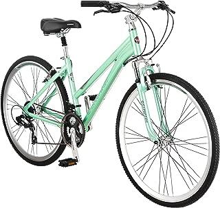 Schwinn Siro Comfort Hybrid Bikes, Lightweight Aluminum Frame, Front Suspension Fork, Padded Seat, 21-Speed Shimano Drivetrain, and 700c Wheels, Great for Bike Paths, Trails, or the Neighborhood