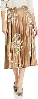 Dear Drew by Drew Barrymore Women's Lexington Ave Pleated Metallic Skirt, Ode to