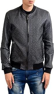 Men's Gray Full Zip Bomber Jacket Size US S IT 48