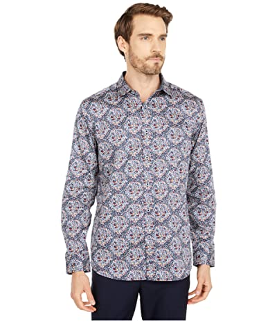 Johnston & Murphy Large Floral Print Shirt (Multi) Men