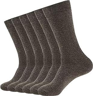 Men's Outdoor Athletic Running Socks 6 Pairs Double Needle Lightweight Hiking&Walking Cotton Socks 7-11/11-13