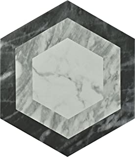 SomerTile FEQ8BXG Murmur Bardiglio Hexagon Porcelain Floor and Wall Tile, 7