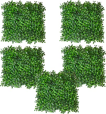 Fourwalls Artificial PVC Eucalyptus Bunch (Set of 5, Green)
