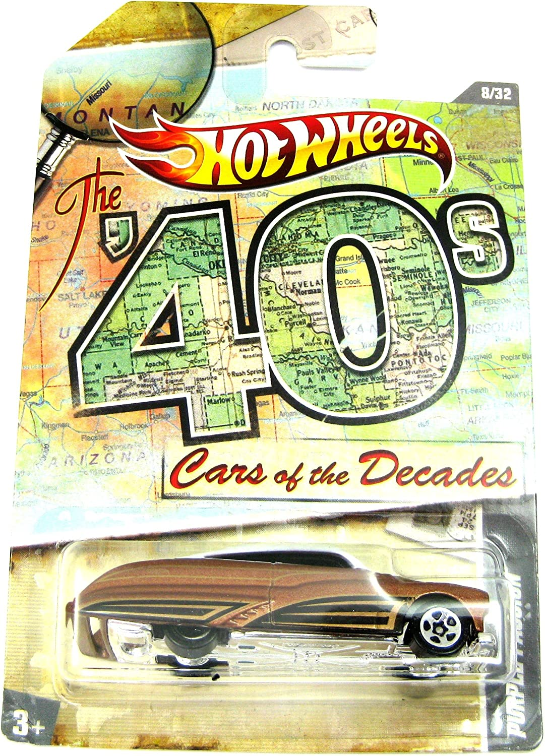 2011 Hot Wheels Cars of the Decades Purple Passion Brown White  8 32 by Hot Wheels