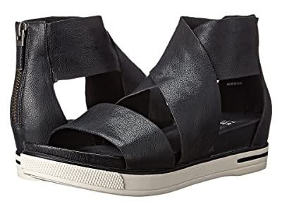 Eileen Fisher Sport (Black Tumbled Leather) Women