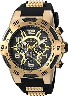 Invicta Men's Speedway Stainless Steel Quartz Watch with Silicone Strap, Two Tone, 30 (Model: 24233)
