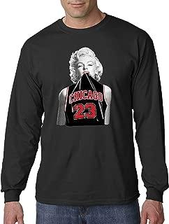New Way 445 - Unisex Long-Sleeve T-Shirt Marilyn Monroe Chicago 23 Jordan Black Jersey