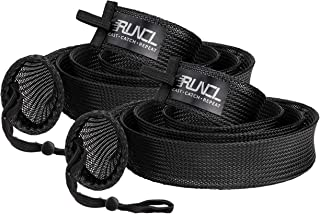 RUNCL Fishing Rod Sleeves & Reel Bags, Spinning/Casting Rod Socks & Spinning/Baitcasting Reel Covers - Protection Solution, Space Saver, Perfect Storage - Fishing Pole Sleeves & Reel Pouch (2 Pack)