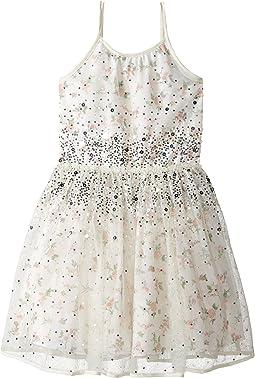 Printed Chiffon w/ Tulle Dress (Little Kids/Big Kids)
