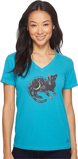 Life is Good - Space Cat Crusher Vee