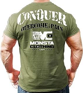 Men's Bodybuilding Workout (Conquer) Fitness Gym T-Shirt