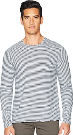 Vince Feeder Stripe Long Sleeve T-Shirt